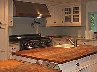 Wood Countertops and Bar Tops with Reclaimed Wood