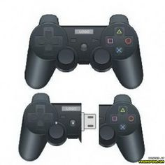 Mini Playstation Controller USB stick, ziet er erg realistisch uit! #USB #playstation