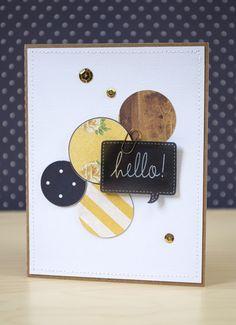 A 'hello!' card