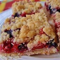 Berry Crumb Bars, photo by naples34102