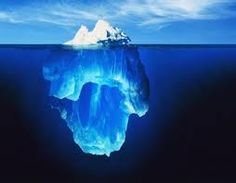 iceberg   (@Jane Bozarth Learning/Teaching Metaphors)