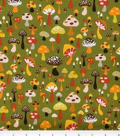 Mushrooms on green