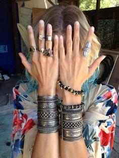 cuffs, rings