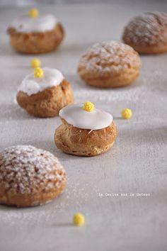 choux069 Petits choux (choux craquelins au lemon curd & petits choux glacés à la vanille)