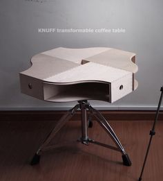 Cool Ikea like table made from magazine holders.