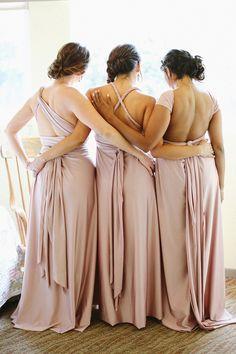 pink bridesmaids' dresses, photo by Allie Lindsey Photography http://ruffledblog.com/san-diego-botanic-garden-wedding #weddingideas #bridesmaiddresses