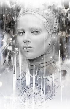 Snow Queen Drawing by Alexis Marcou.