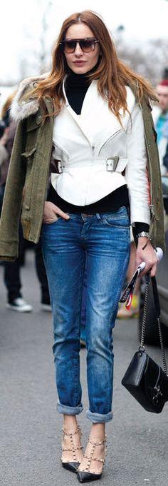 Paris street style - Paris F/W Fashion Week 2012