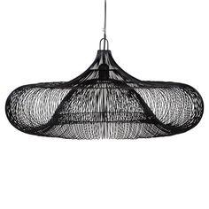 Iron Hanging Lamp In Black