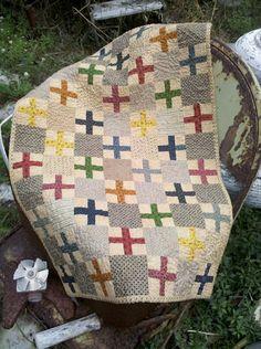 cross quilt.