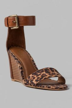 MIA Shoes, Fiona Leopard Wedge