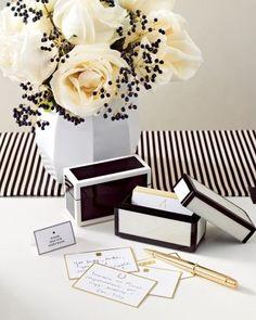 Black + white flowers