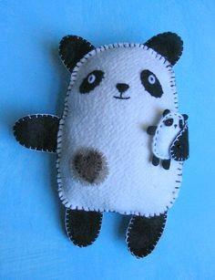 sew a felt panda toy. (letter of the week is p, or panda studies.)