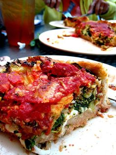 Uno's. Spinocolli Deep Dish Pizza. how i miss Uno's. there's nothing like it in SD ...