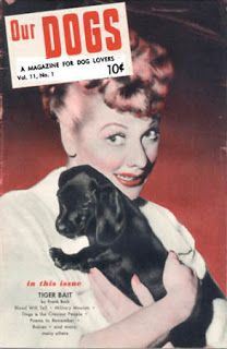 Lucille Ball and dachshund puppy