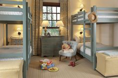 small room with bunks