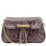 Gucci python with mauve Evening Bag