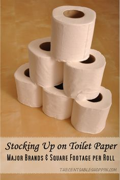 Stocking Up on Toilet Paper.....Major Brands and Square Footage by Roll #Resource #Coupons