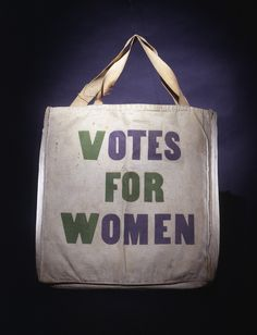 A special canvas bag for carrying and distributing literature along the parade route. The 1913 #suffrage parade took place the day before Woodrow Wilson's inauguration. The #suffrage1913 display case opens on Feb. 28. There is a family festival to celebrate the parade's centennial on March 2.