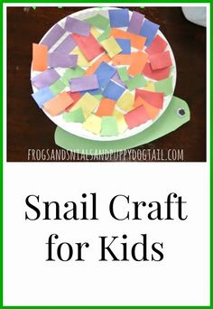 Snail Craft for Kids by FSPDT