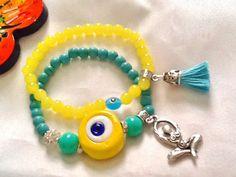 SALE GODDESS BRACELET Yoga Bracelet Evil Eye Jewelry  by Nezihe1