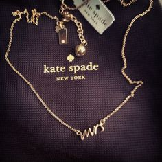 Kate spade Mrs necklace Love