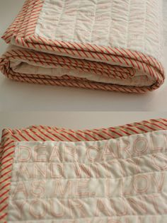 Simple quilt, love the binding on this