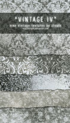 Vintage IV Texture Pack by `cloaks on deviantART // Free Texture