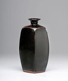 Bernard Leach Tenmoku Bottle          Price Realized: $6,000.00