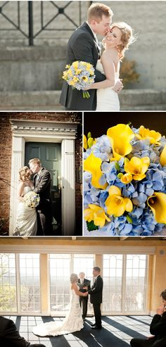 blue hydrangea, stuff, calla lilies, bouquets, yellow calla lily bouquet, blues, lili bouquet, hydrangeas
