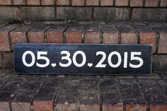 Save the date! Wedding Date painted wood sign #wedding #savethedate #woodsign #anniversary #love #signsbyandrea