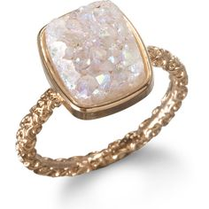 Dara Ettinger Nadia Stackable Druzy Ring, Halo found on Polyvore