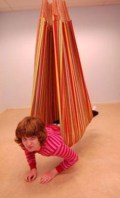 #OT #SPD #Swing #Pediatric Sensory Processing Activities -hammock/enclosed swing examples