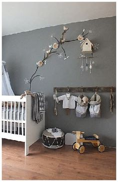 """I found a pattern of a tree today at walmart think im going to but it up on the wall for khloe""""s room at my house it will look good with the beddinge"""