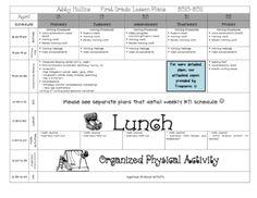 Lesson Plan Template {Pre-K & Elementary}