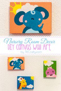 Nursery Room Decor. DIY Canvas Wall Art Tutorial
