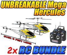 Mega Hercules SUPER TUFF 3.5CH RC Helicopter 2-Pack Bundle