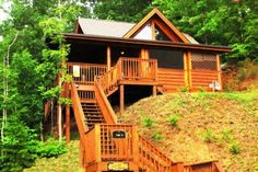 Stairway to Heaven is a cabin rental in Pigeon Forge, TN. This cozy yet modern cabin offers you everything you will need to make your stay the best one yet. The comfortable living area boasts a flat screen TV and a sleeper sofa. Retreat upstairs and relax in the loft style bedroom  including a TV and full bath. The Wii in the living area will keep you entertained for hours. You can enjoy the beautiful view of the mountains from the front porch and enjoy cooking outdoors with the gas grill.