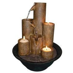 I pinned this Eternity Three Candle Tabletop Fountain from the Turn Up the Heat event at Joss and Main!