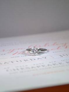 Classic solitaire engagement ring | Find this ring at Ritani