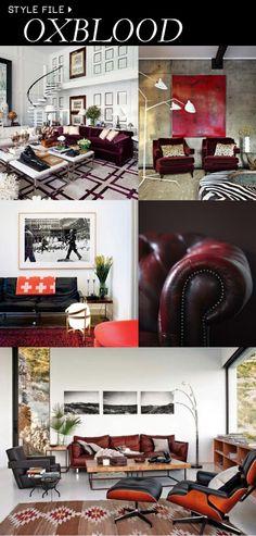 Oxblood interiors.