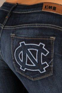 OCJ Apparel   Premium Collegiate Denim   North Carolina Tar Heels. http://alumni.unc.edu