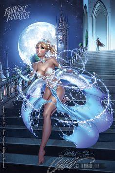 2012 sexy calendar for Disney Princesses Pin-Ups by J. Scott Campbell