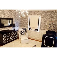 Chic Black and White Nursery