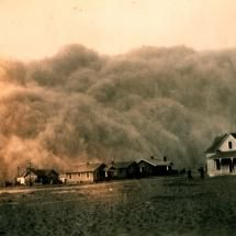 dust storm in Texas in 1935 - Run!