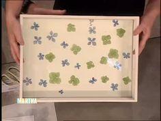 How-To make a Hydrangea Wreath and Decorative Tray