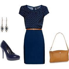 Love this navy blue for an everyday work look!