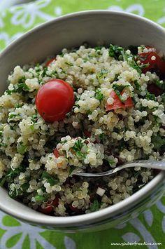dinner, salad, gluten free vegan, eat unsort, quinoa tabouli, food, glutenfre, recip, free quinoa