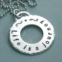 A winner has been selected for this round - This Pin is closed. Hand Stamped Sterling Silver Affirmation Necklace