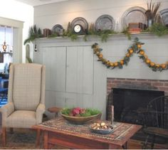 fireplace with cabinets and high mantel